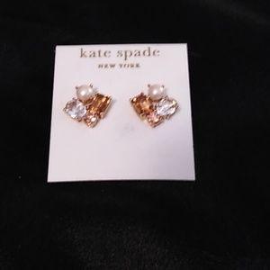 Kate Spade Pearl and Crystal earrings